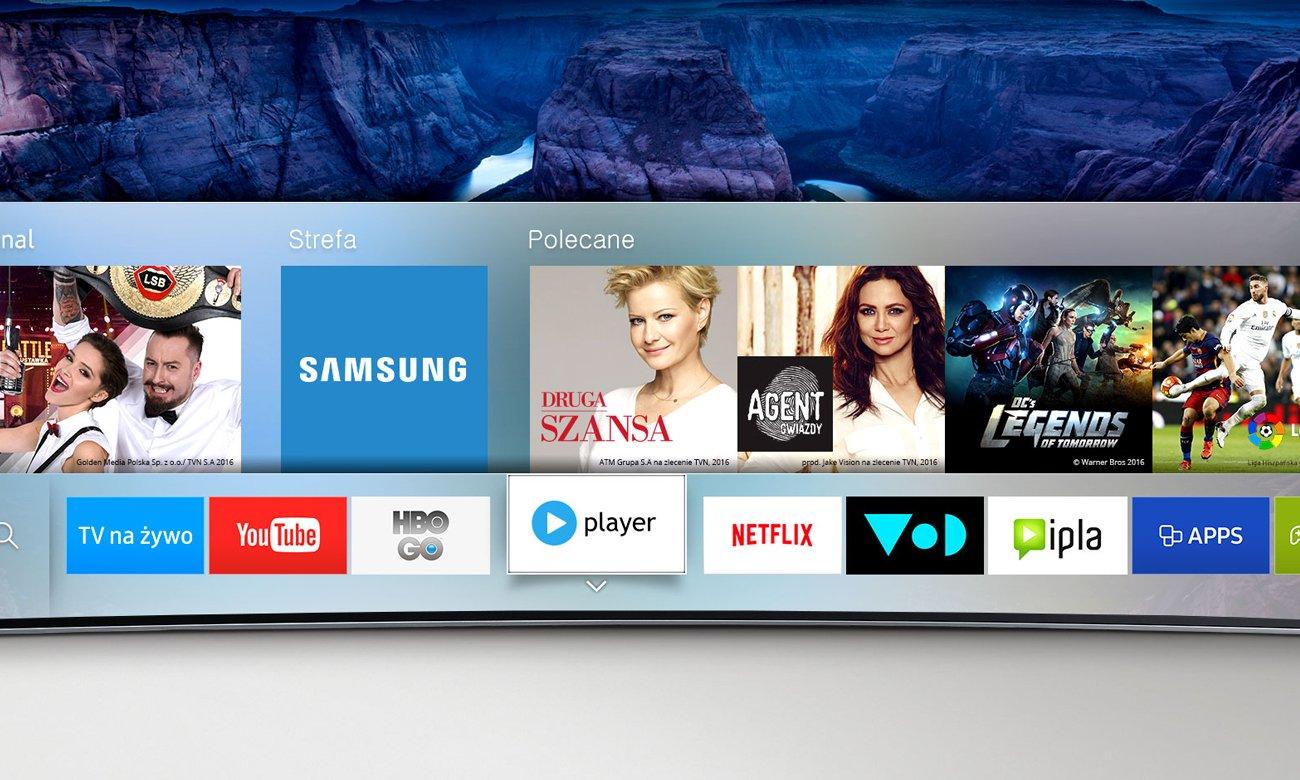 Wygodne sterowanie tv Samsung UE50KU6000