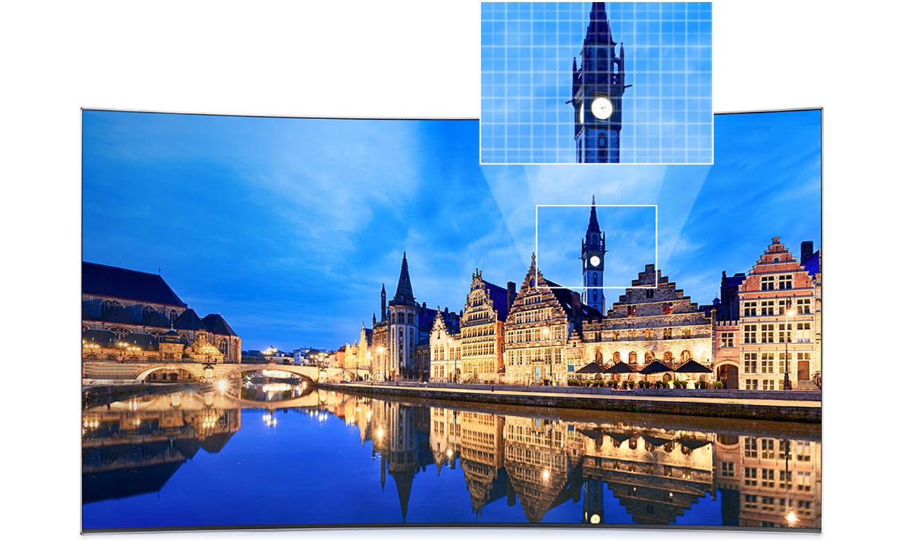 Wysoki kontrast obrazu w telewizorze Samsung UE55K6300