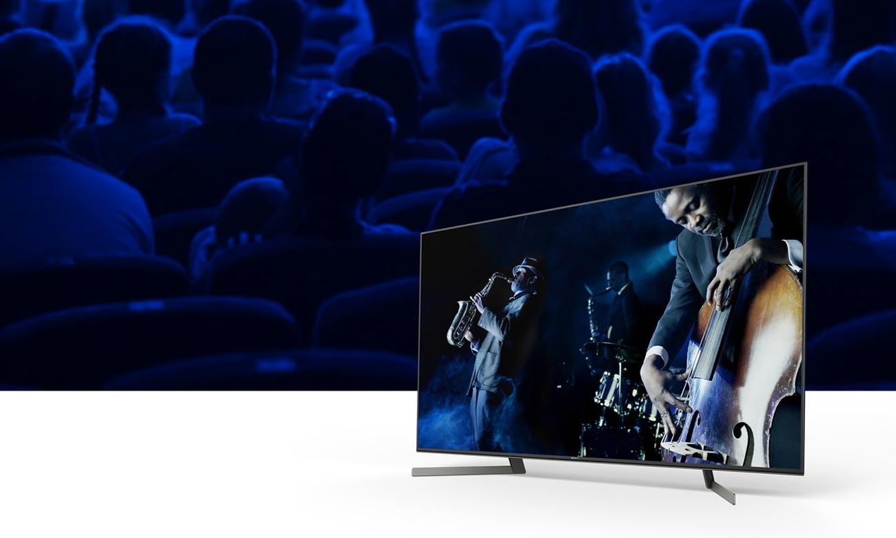System dźwięku w 85-calowym telewizorze Sony KD-85XG9505