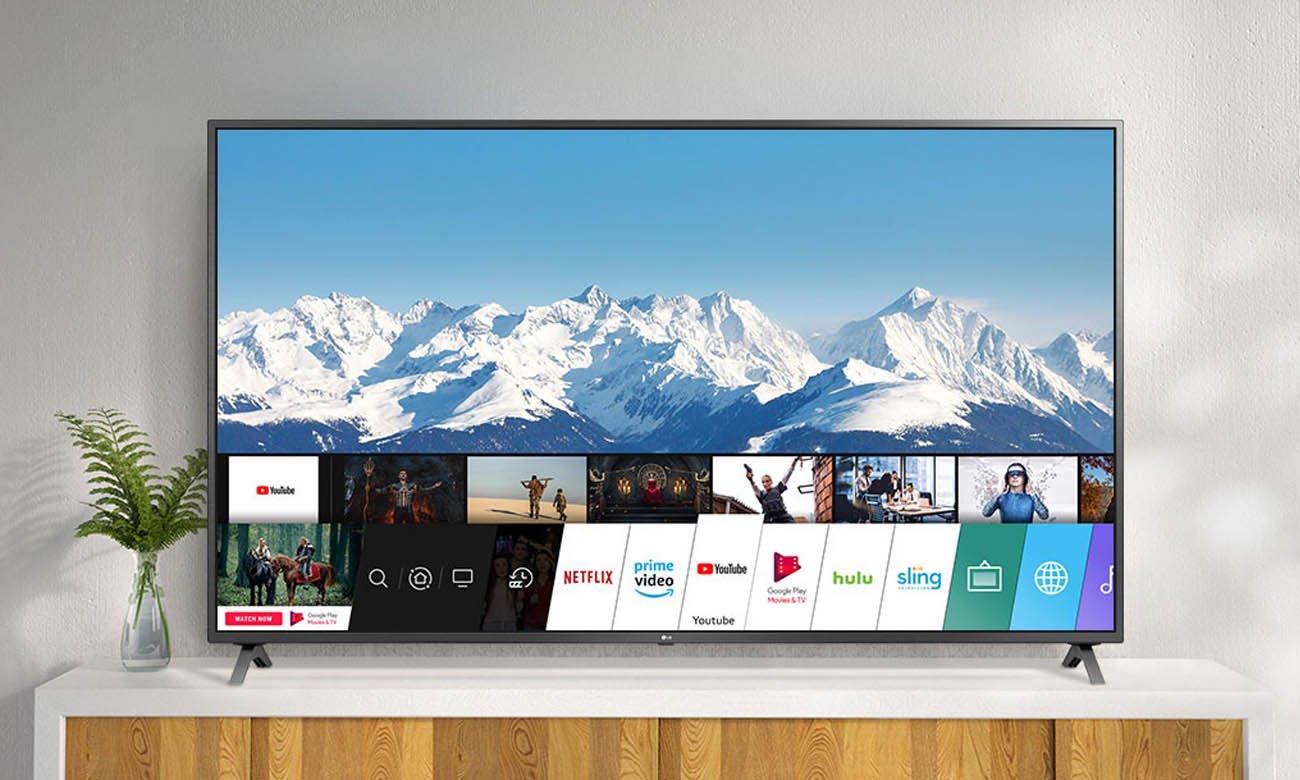 Szeroki kąt widzenia w LG 75UN85003 z systemem webOS Smart TV