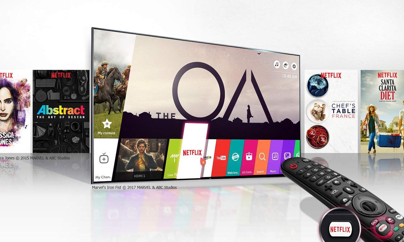 Netflix 4K HDR z telewizorem LG 55UJ620V