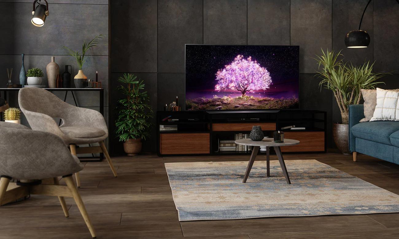 Technologie Dolby Atmos i Dolby Vision IQ w telewizorze OLED77C12LA od LG