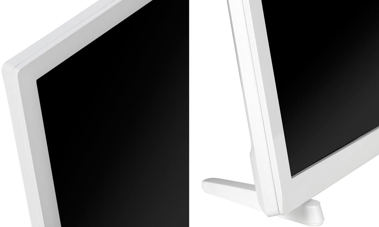 Niewielki, biały telewizor Philips 24PHT4032