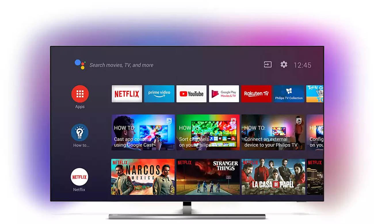 Telewizor Philips 4K 55OLED855 Smart TV ANDROID