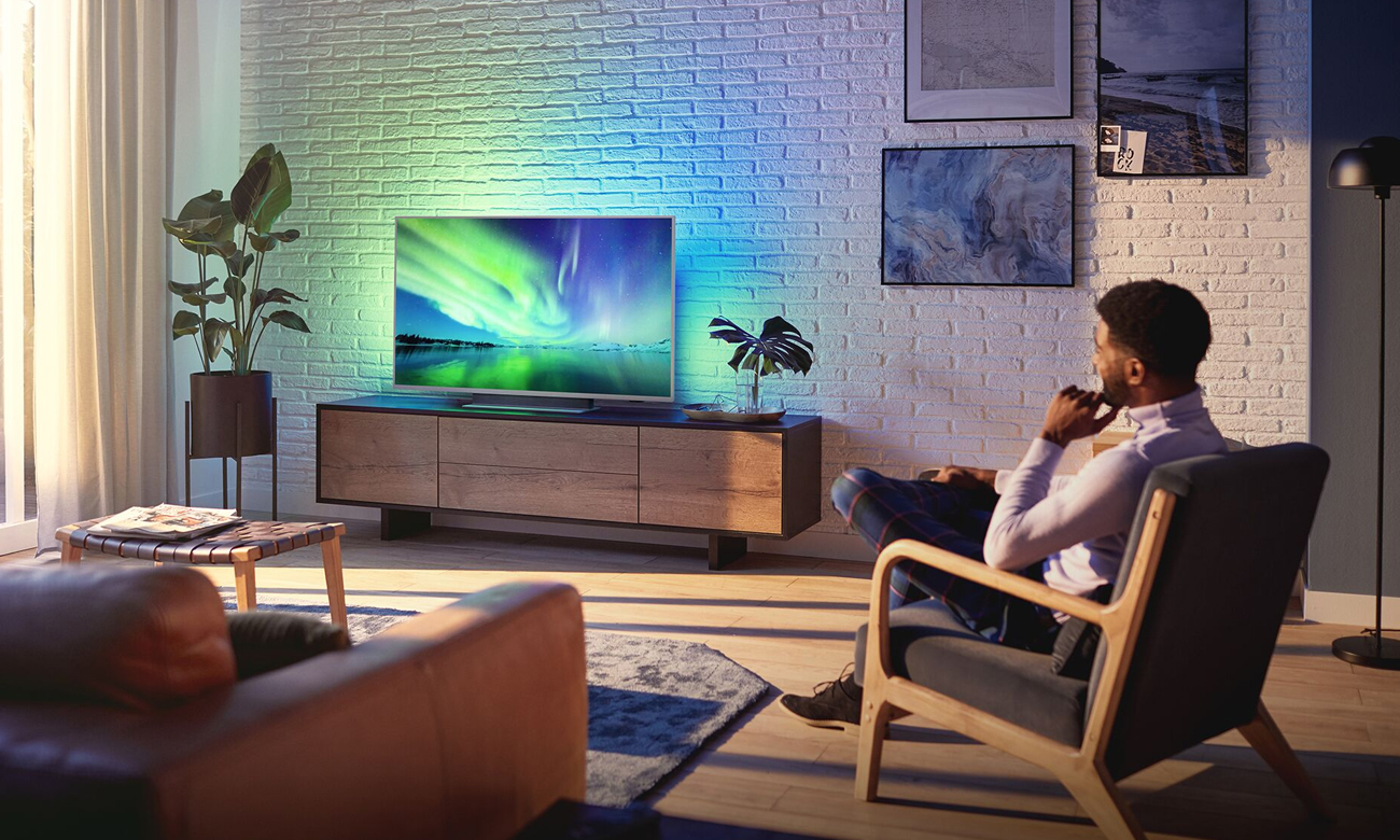 Telewizor 4K Philips 55PUS7504 Asystem Google i Alexa