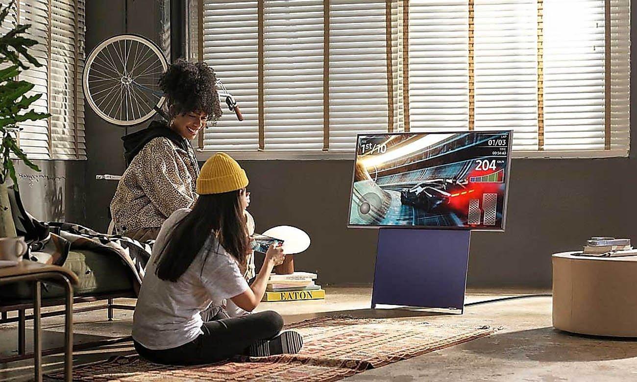 Telewizor The Sero Samsung QE43LS05T z potężnym dźwiękiem