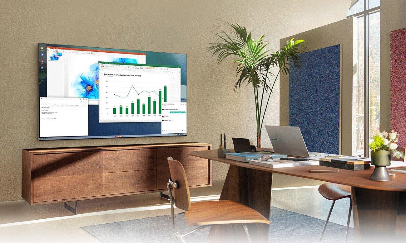 Home Office z TV Samsung QE55Q77AA 55 cali
