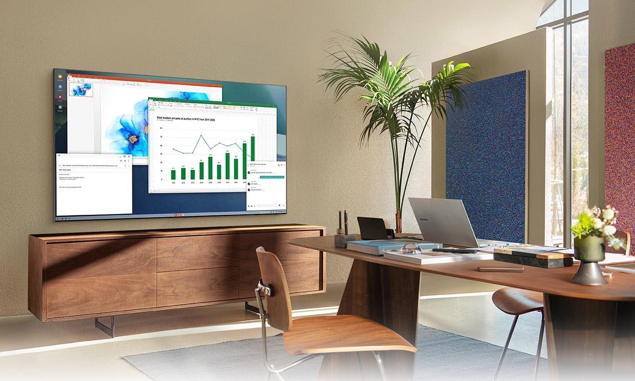 Home Office z TV Samsung QE55Q80AA 55 cali