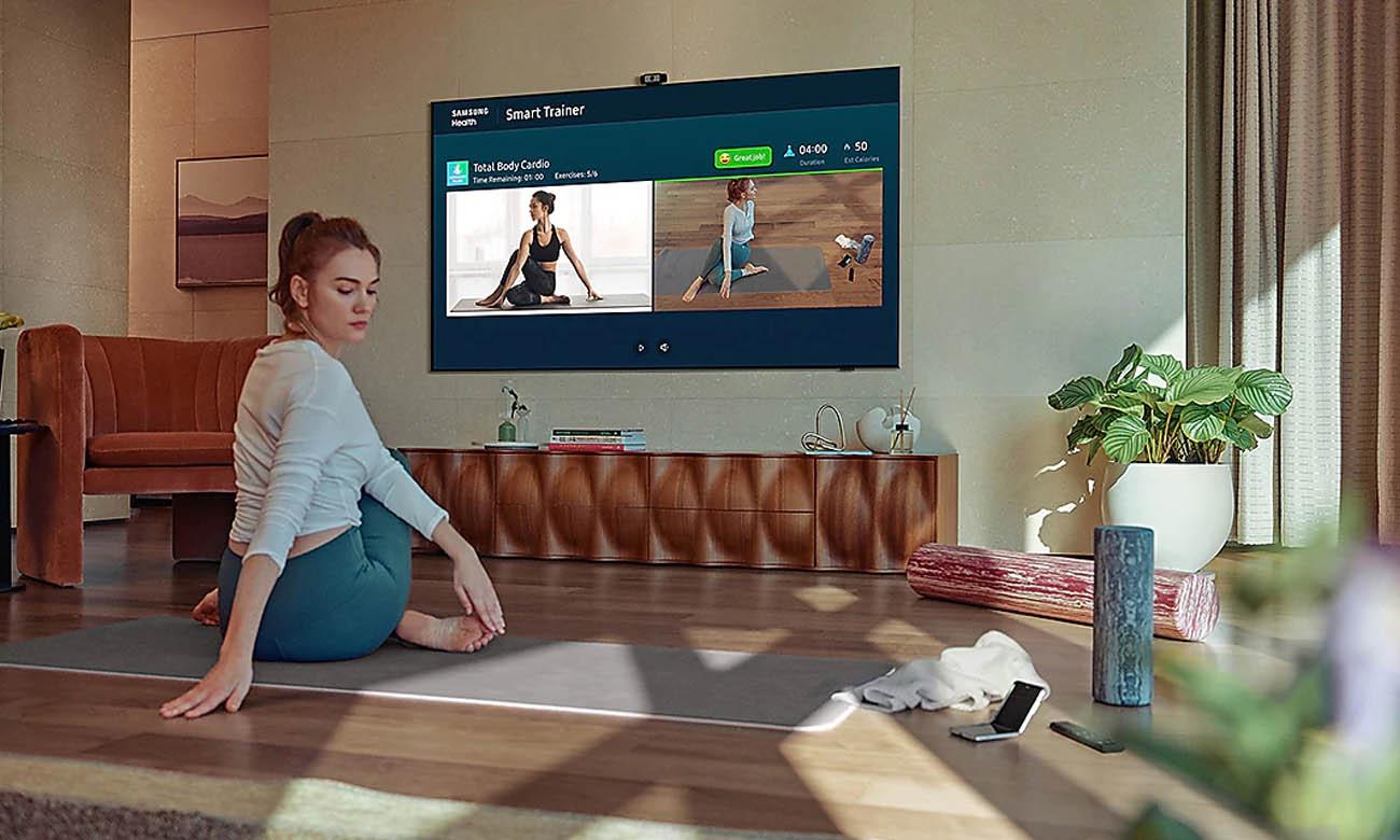 Home Office z TV Samsung QE65QN85A 65 cali