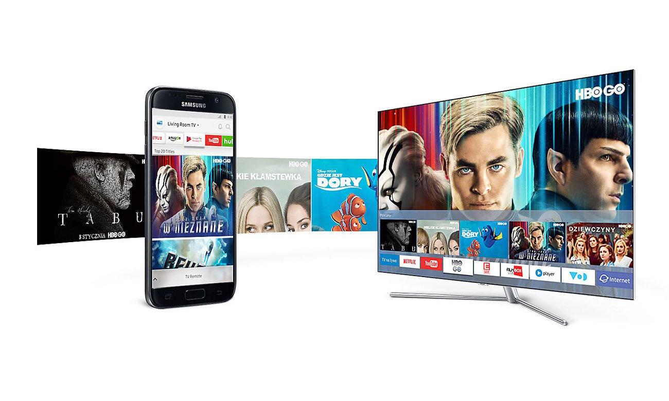 Strumieniowe przesyłanie treści w telewizorze Samsung UE32M5502