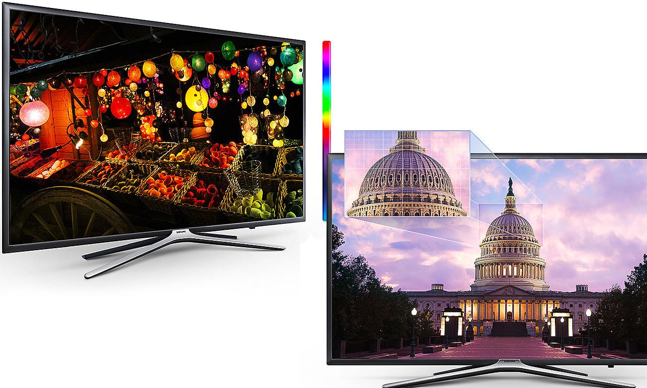Wysoki kontrast obrazu w telewizorze Samsung UE43M5502