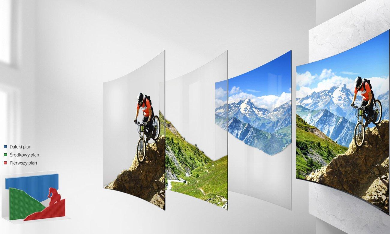Funkcja Auto Depth Enhancer w telewizorze Samsung UE55K6300