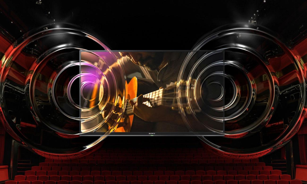 Wysoka moc dźwięku z tv 55XF7596 firmy Sony