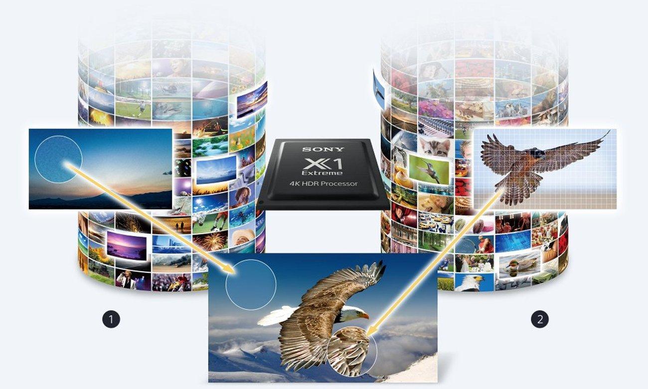 Procesor 4K X1 w telewizorze Sony KD-43X8309C