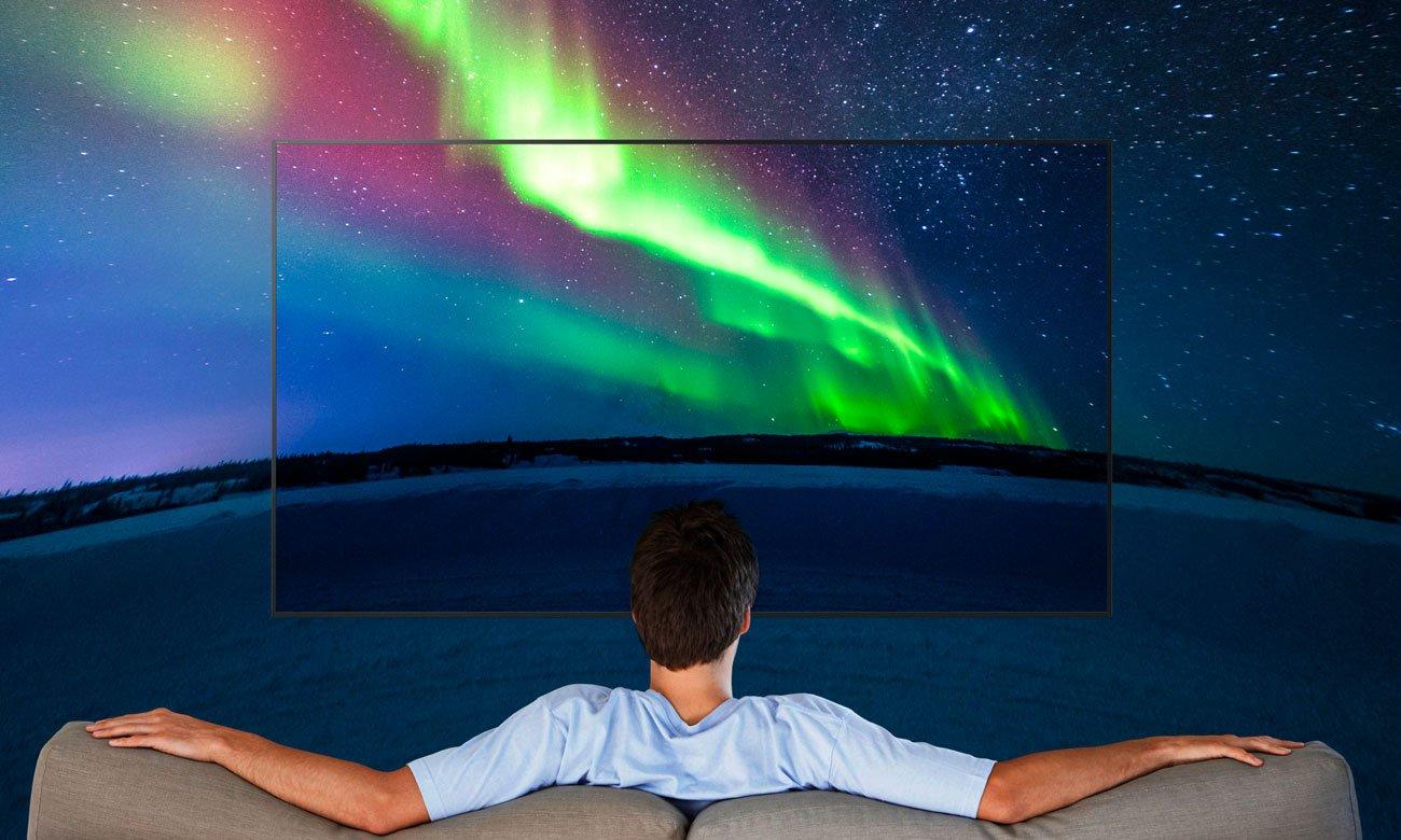 Wysoka jakośc obrazu z tv KD-49XE7005 firmy Sony