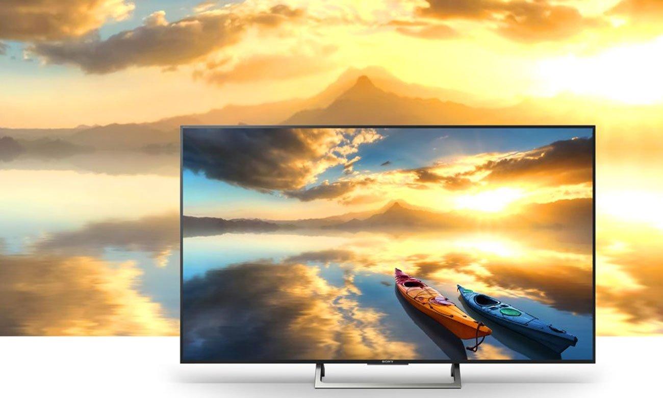 Jakośc Ultra HD w telewizorze KD-65XE7005 Sony