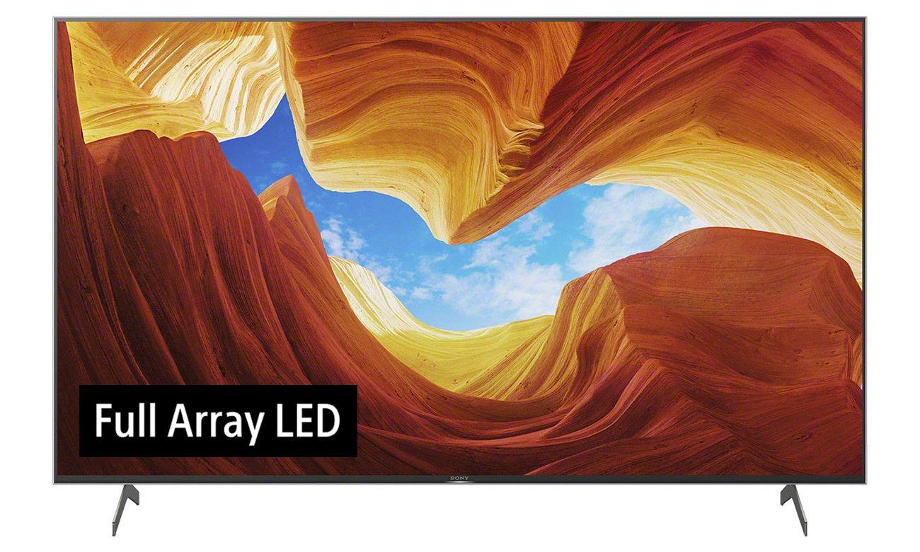 Doskonałe podświetlenie w Sony KD-75XH9096