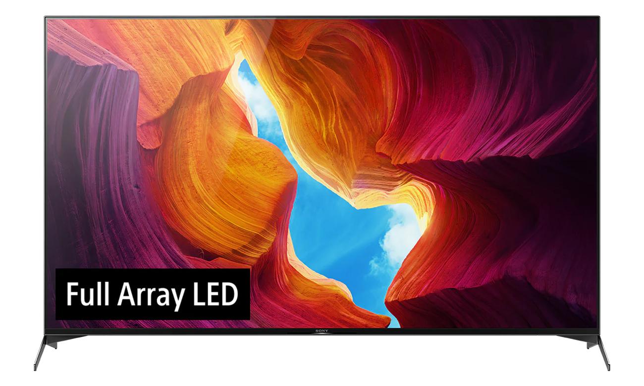 Doskonałe podświetlenie w Sony KD-75XH9505