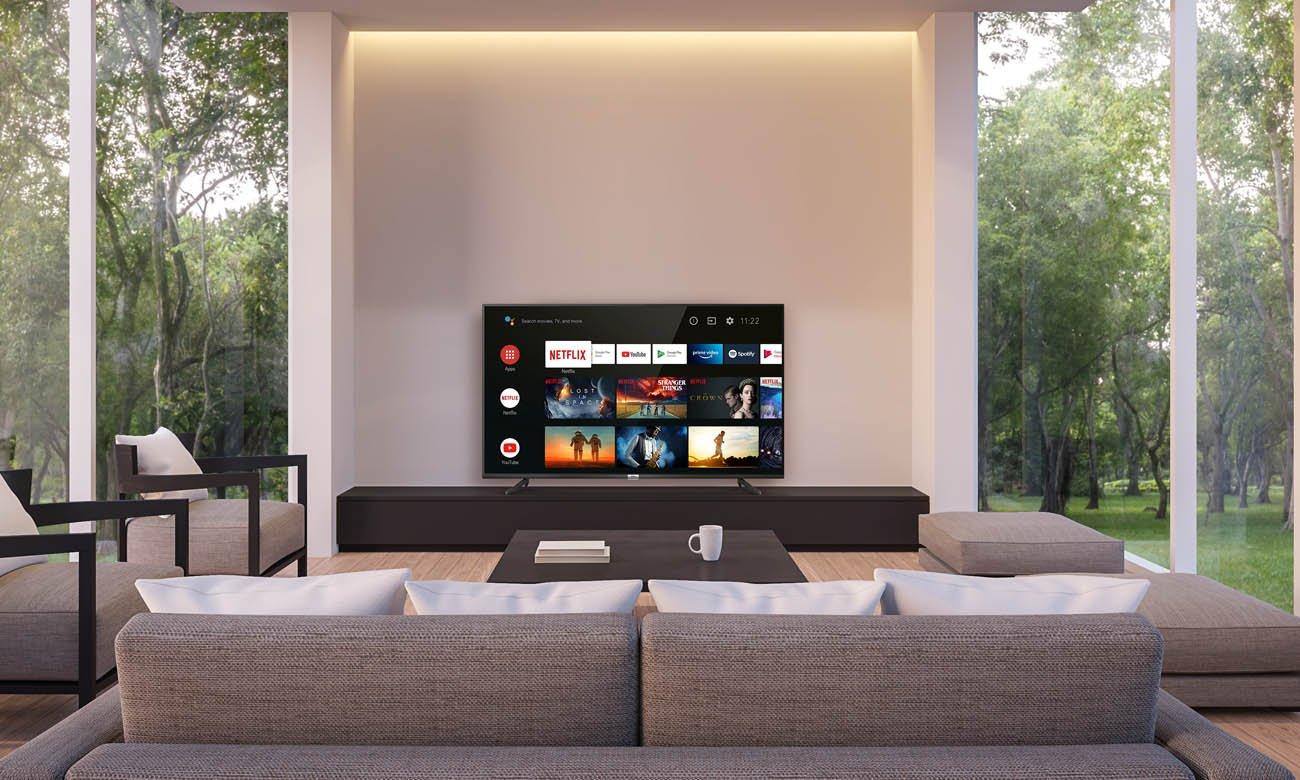 Sterowanie za pomocą aplikacji telewizorem 4K TCL 43P615