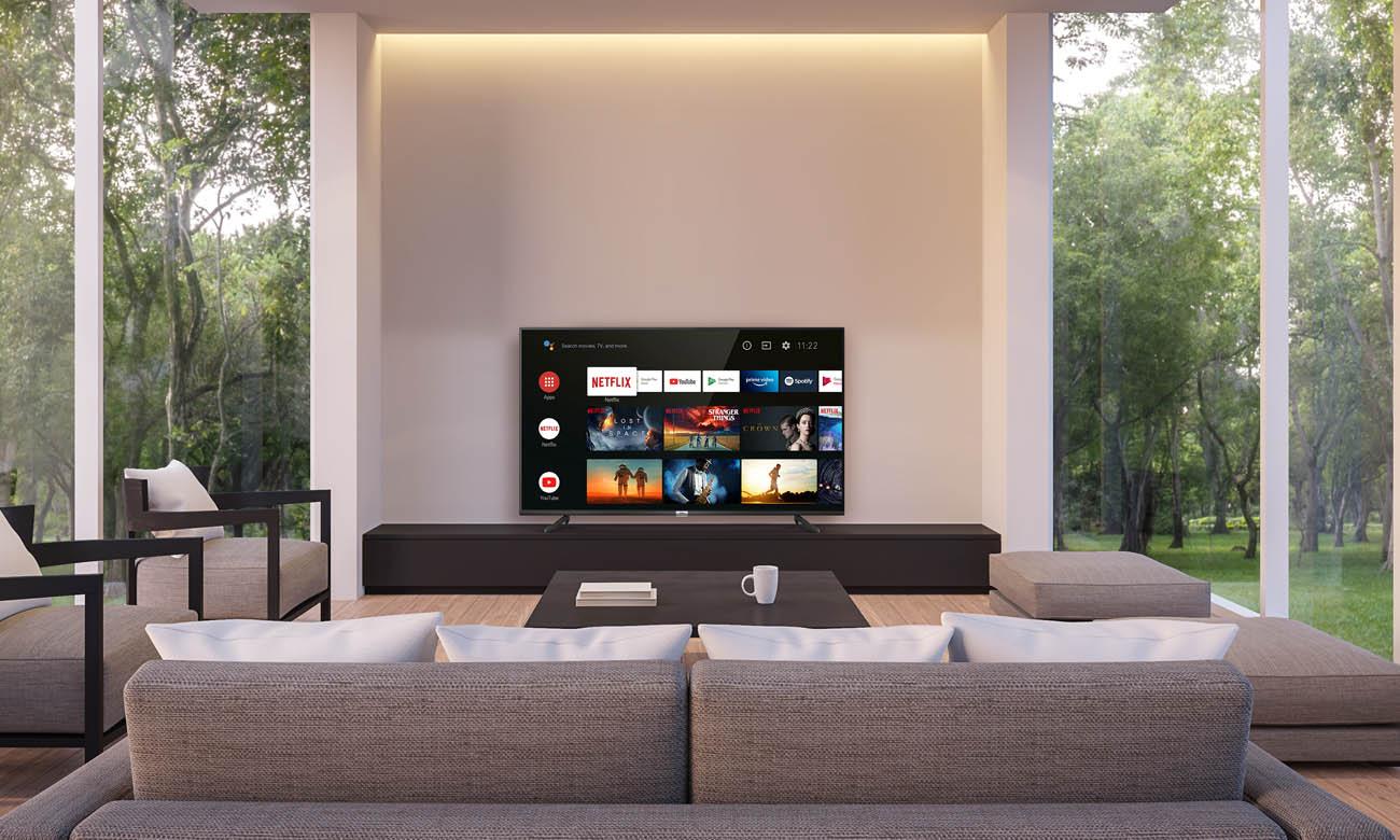 Sterowanie za pomocą aplikacji telewizorem 4K TCL 50P615