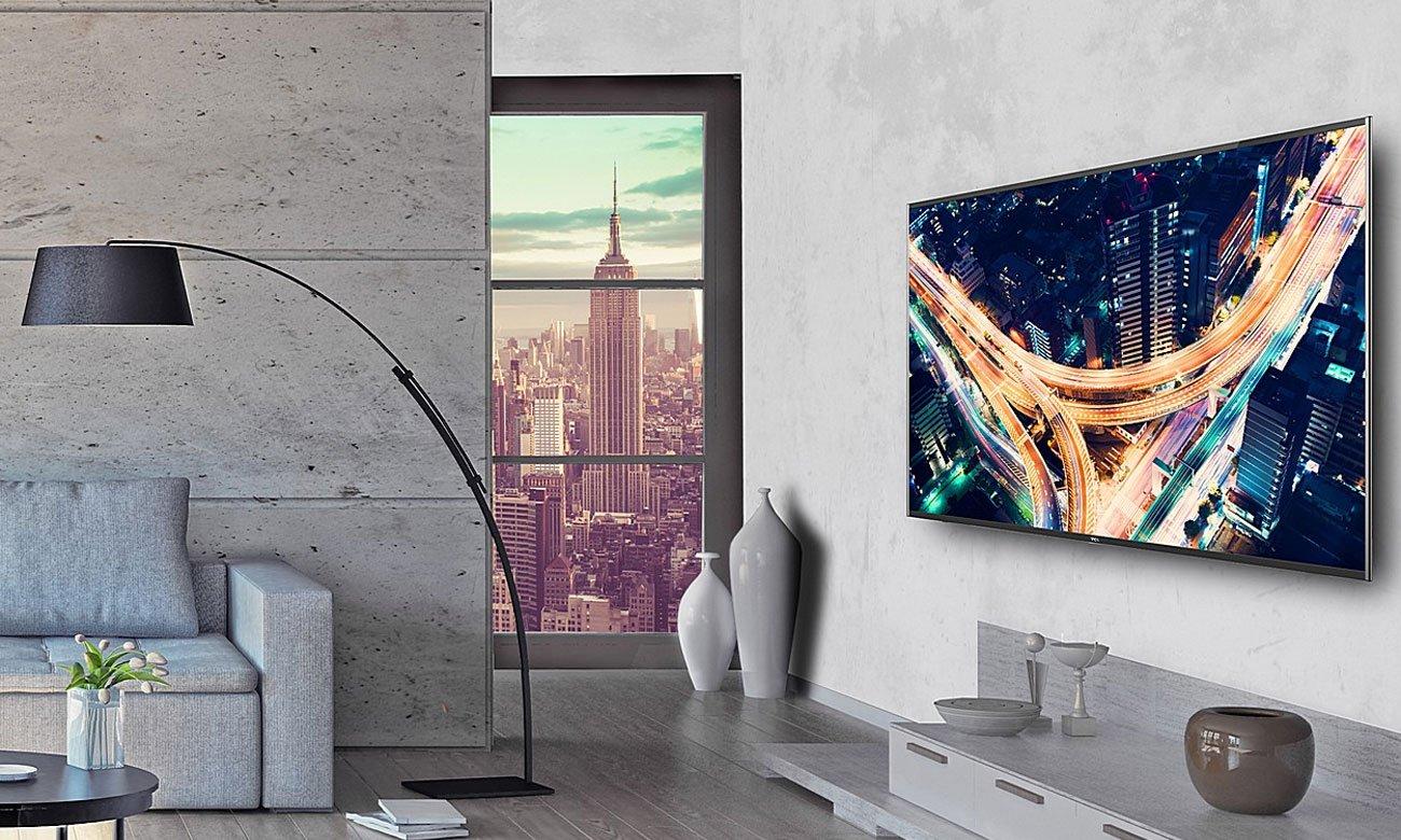 Płynny obraz na 49 calowym ekranie tv TCL U49P6006