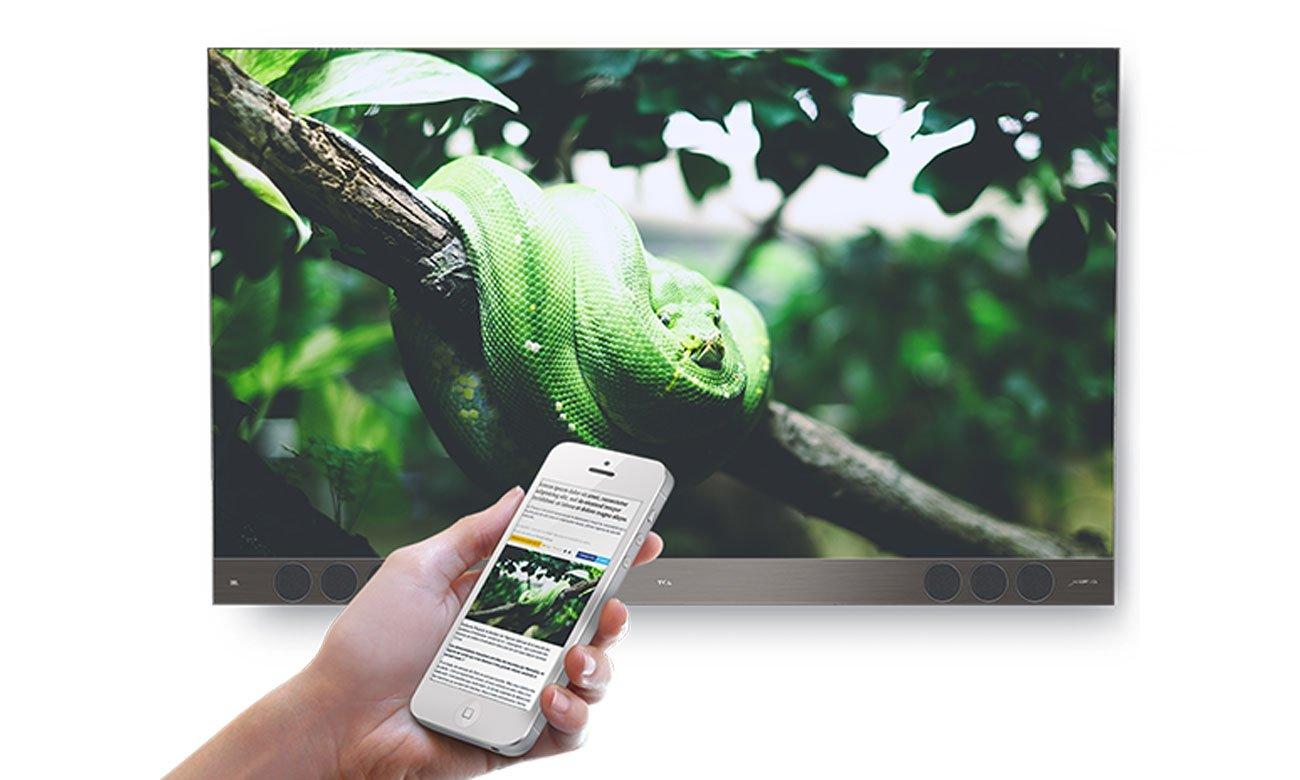 Szybka łączność Wi-Fi w tv TCL U55X9006