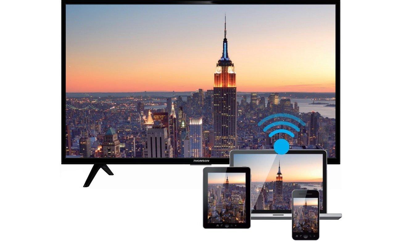 Łączność Wi-Fi i DLNA w tv Thomson 40FB5426
