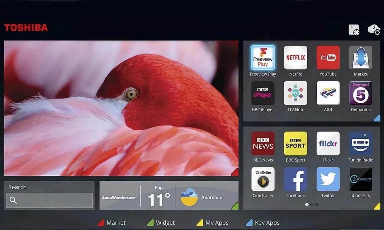 Smart TV w 49UL3063DG Toshiba Smart Portal