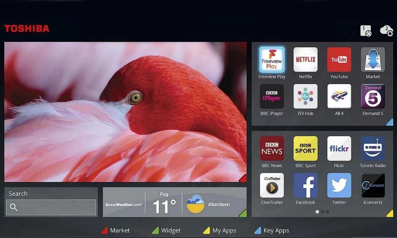 Smart TV w 55U2963DG Toshiba Smart Portal