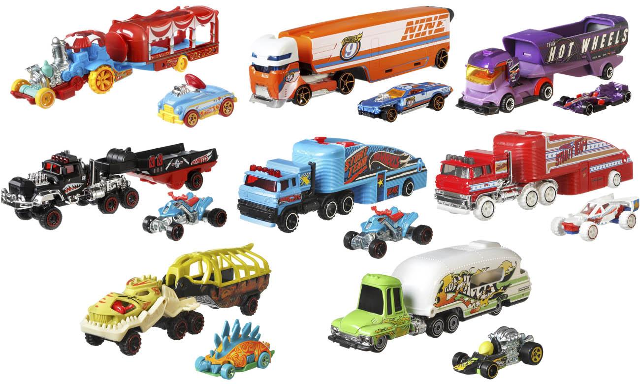 Hot Wheels Ciężarówka + samochód BDW51