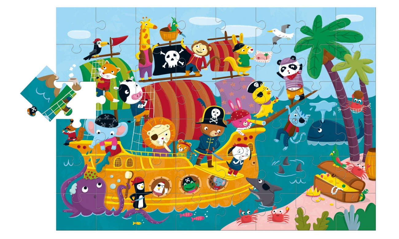 Puzzle Lisciani Giochi Ludattica Giant Statek Piratów  304-47222