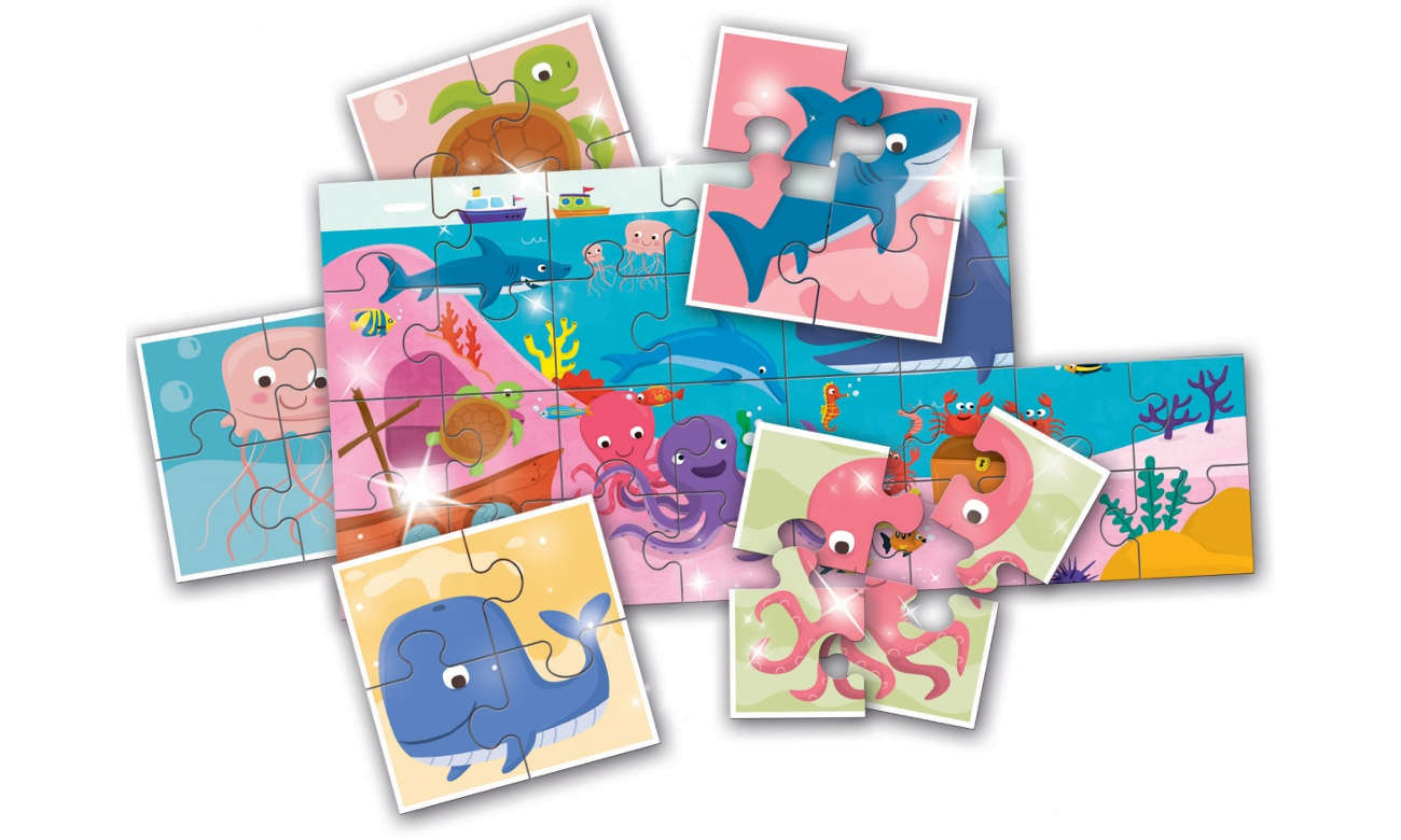 Puzzle Lisciani Giochi Ludattica 8+1 Baby Morze 304-51427