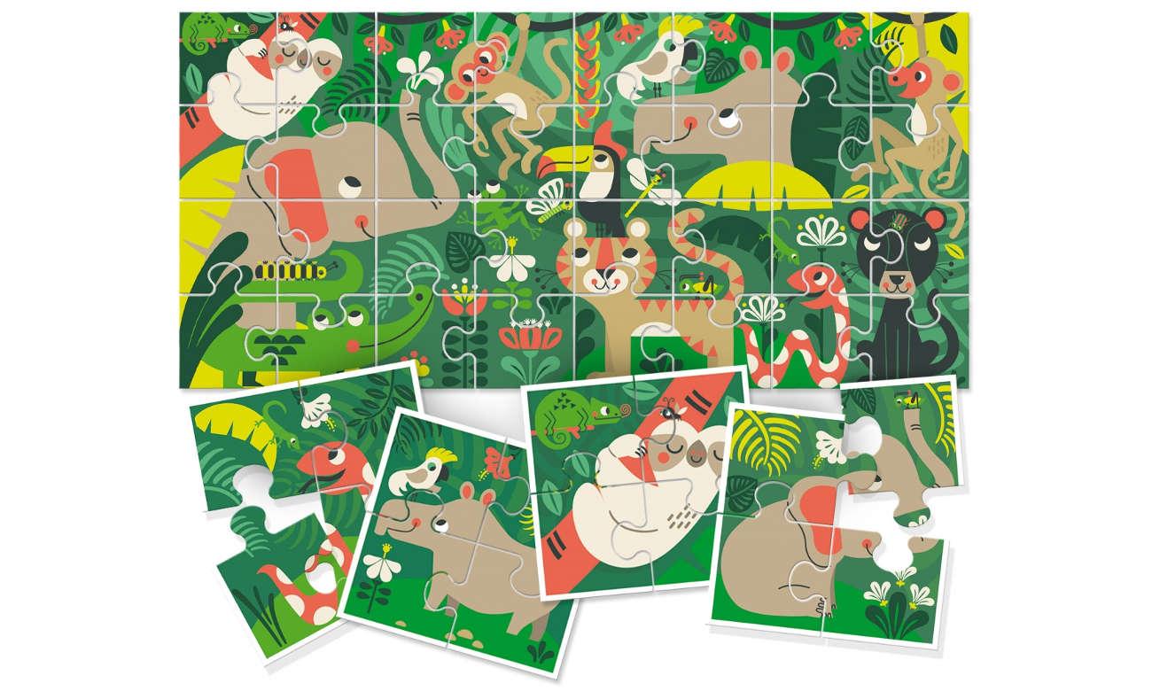 Puzzle Lisciani Giochi Ludattica 8+1 Baby Dżungla 304-58181