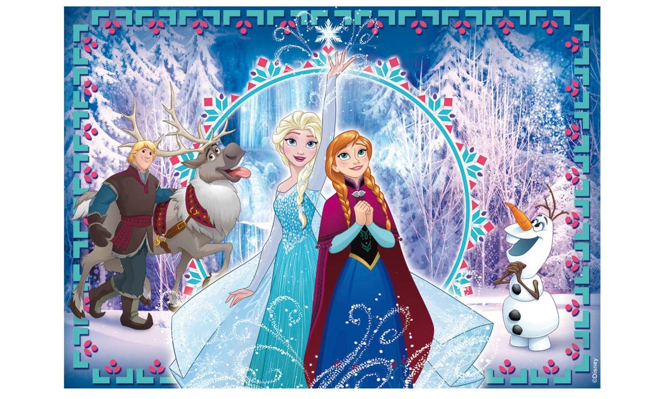 Puzzle Lisciani Giochi Disney dwustronne Kraina Lodu