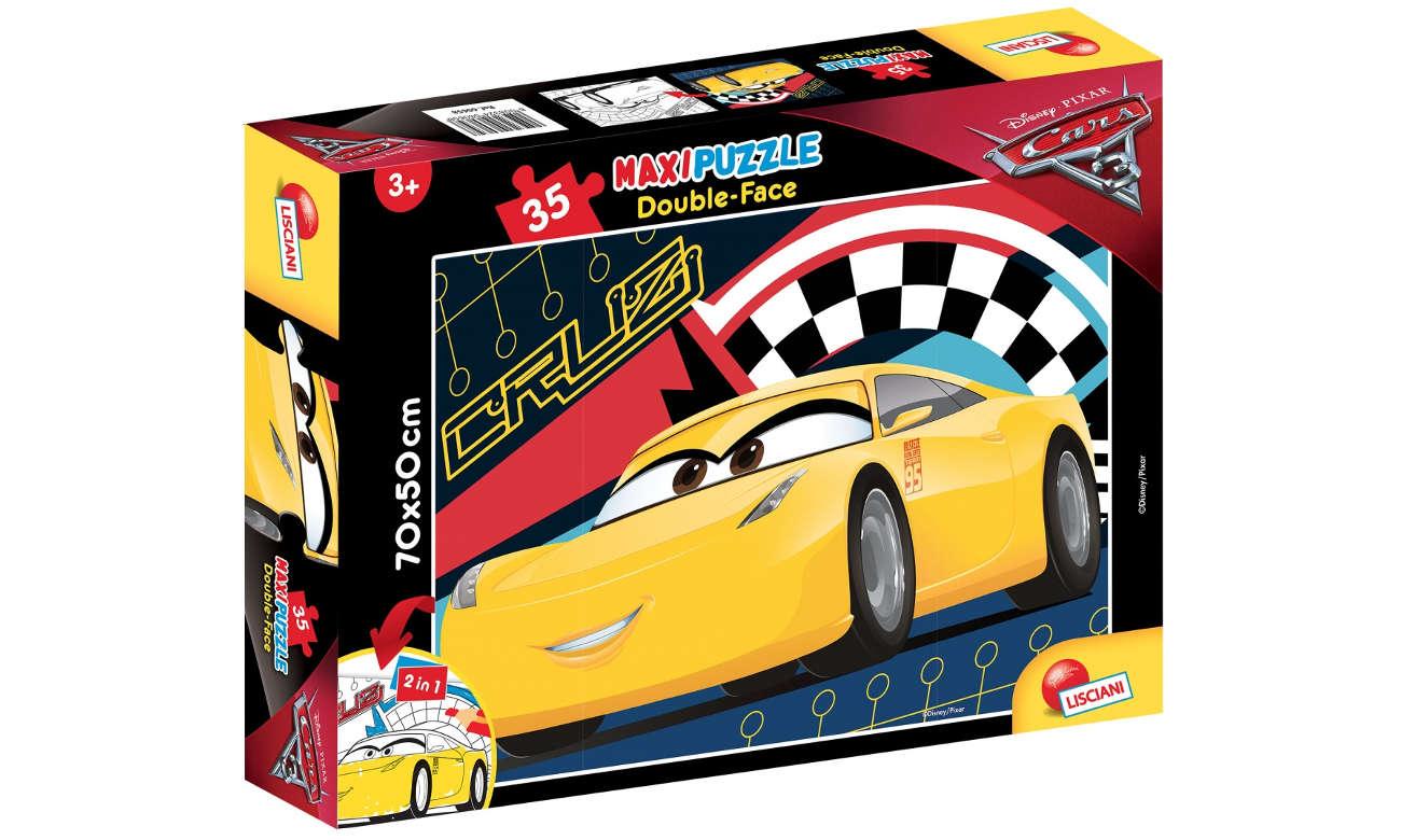 Puzzle Lisciani Giochi Disney dwustronne Maxi Auta 3 304-60658