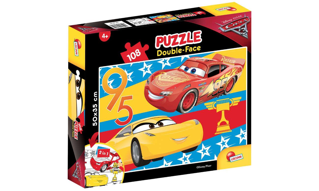 Puzzle Lisciani Giochi Disney dwustronne Auta 3 304-60740