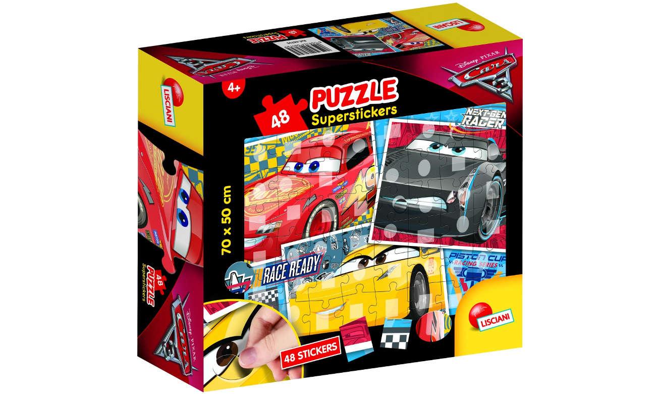 Puzzle Lisciani Giochi Disney super naklejki Auta 3 304-60795
