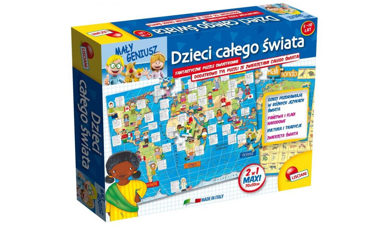 Puzzle Lisciani Giochi Mały Geniusz Dzieci całego świata 108 el. 304-P50796