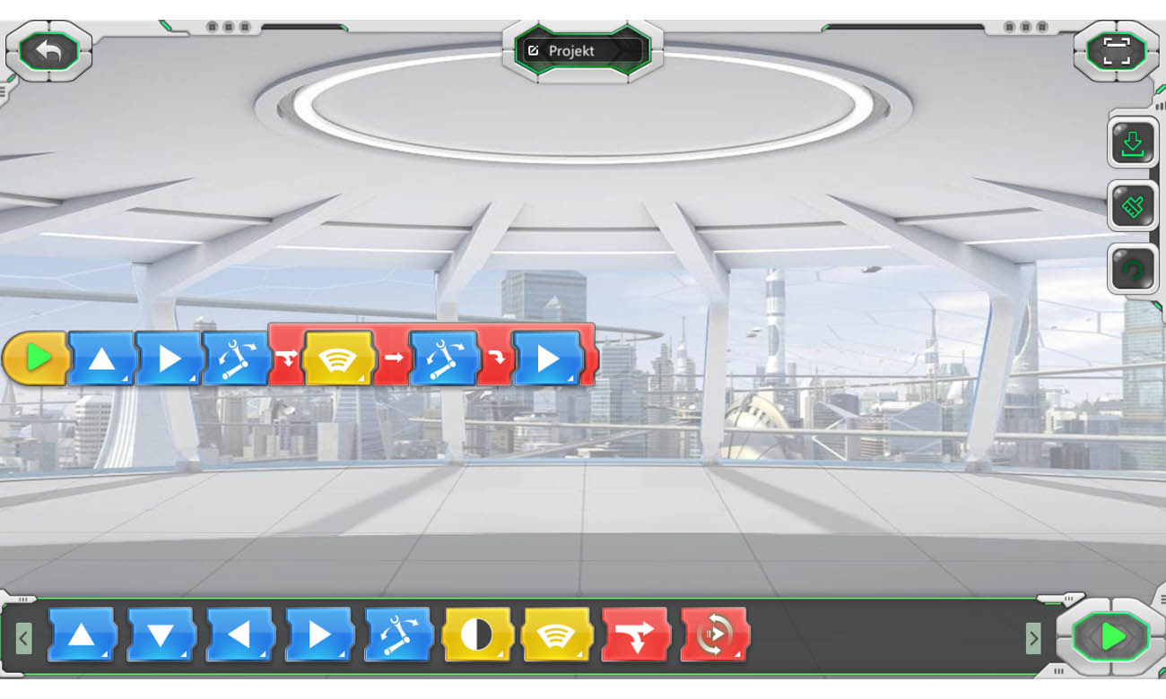 Dedykowana aplikacja na urządzenia mobilne Abilix do robota Krypton 6