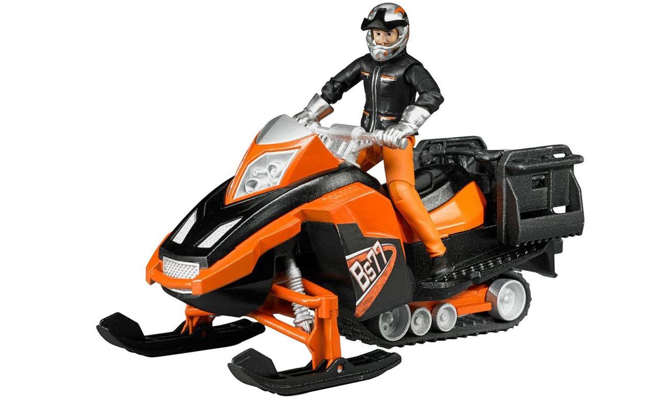 BRUDERSkuter śnieżny z kierowcą i akcesoriami  BR-63101