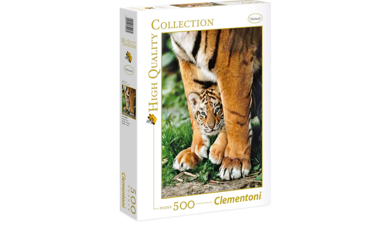 Clementoni Puzzle	HQ Bengal Tiger Cub Between Its Mother'S Legs 35046
