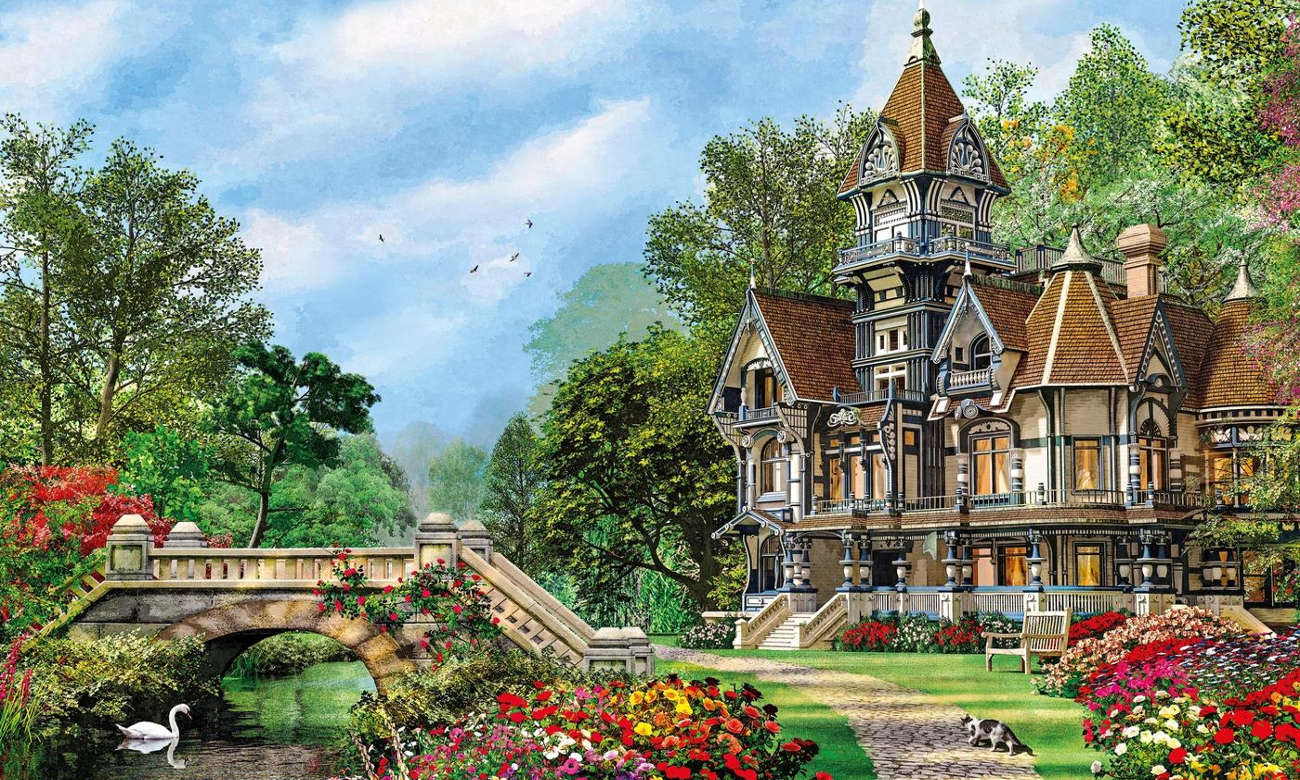 Clementoni Puzzle HQ Old Waterway Cottage 35048