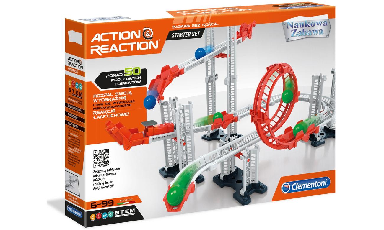 Nauka poprzez zabawę z zestawem Clementoni 50099 Akcja-Reakcja