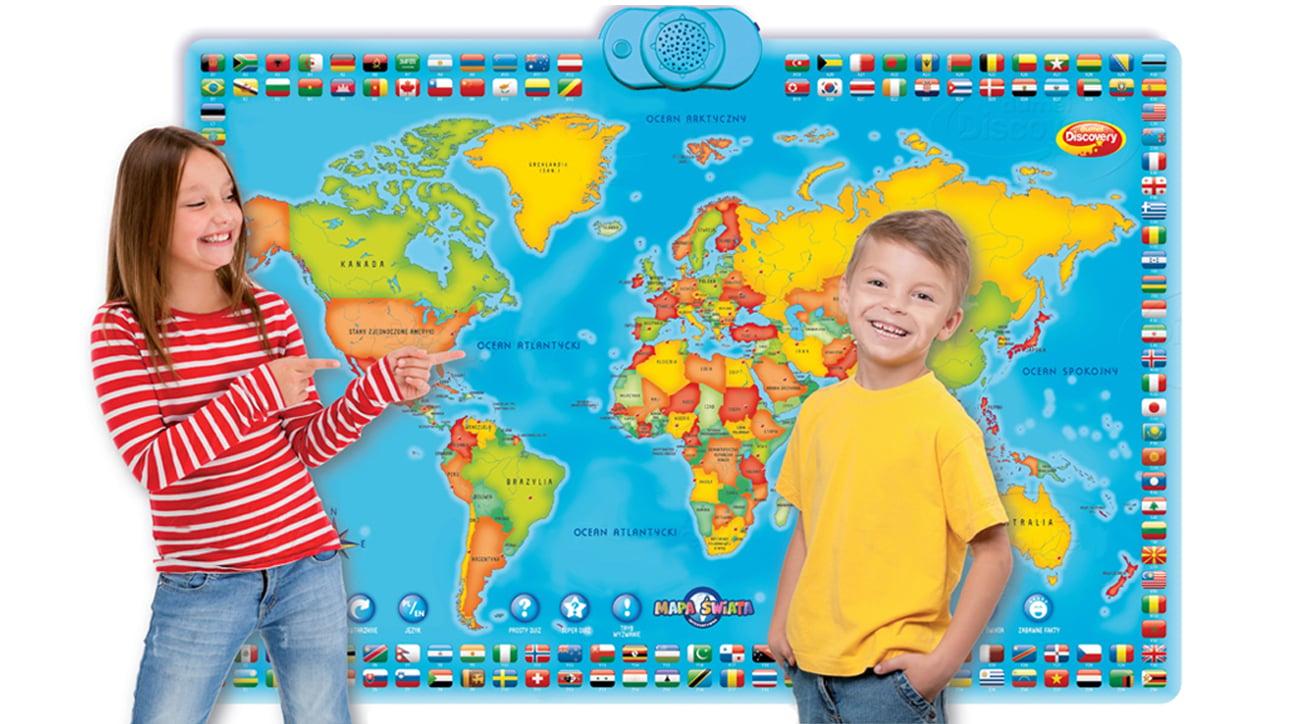 test edukacyjna mapa świata dla dzieci