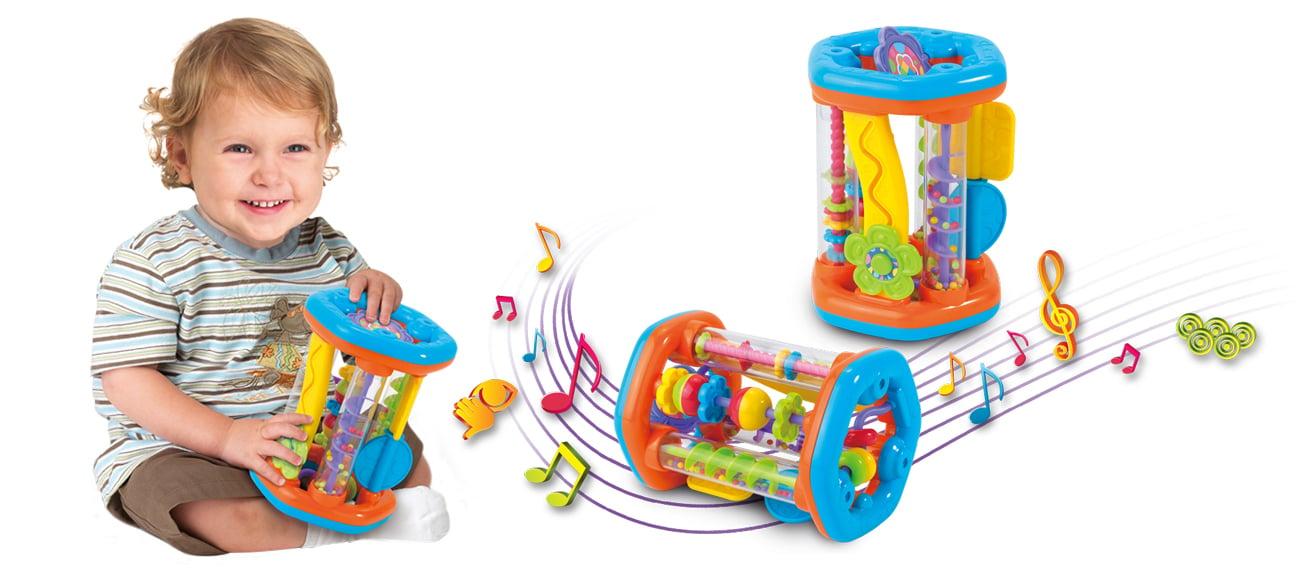 Zabawka dla małego dziecka Dumel Discovery Roler grzechotka sorter kształtów DD 42307