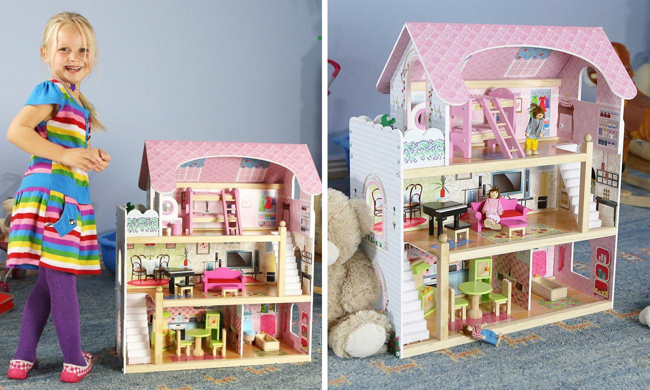 Ecotoys Domek dla lalek Rezydencja bajkowa