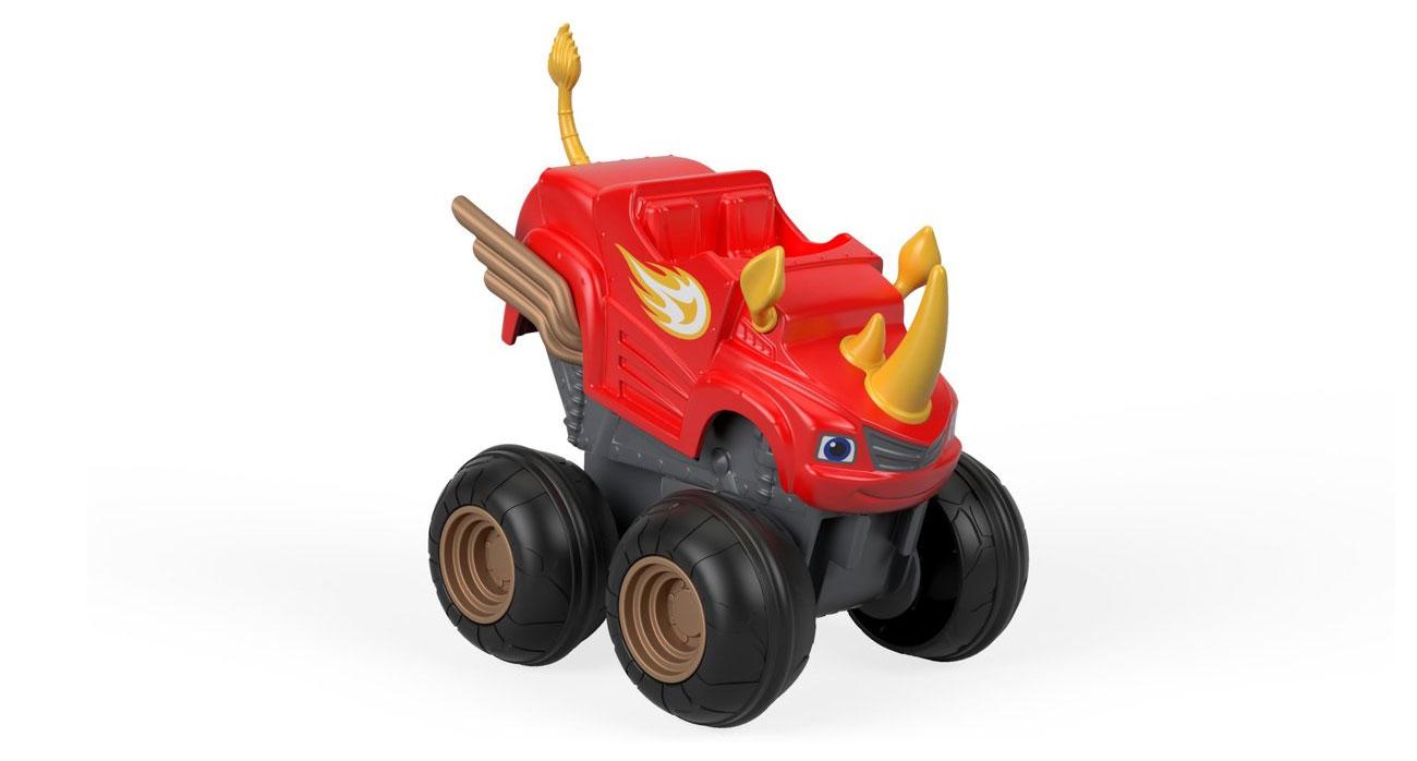 Fisher Price Blaze Pojazd Naciśnij i jedź Rhino Blaze