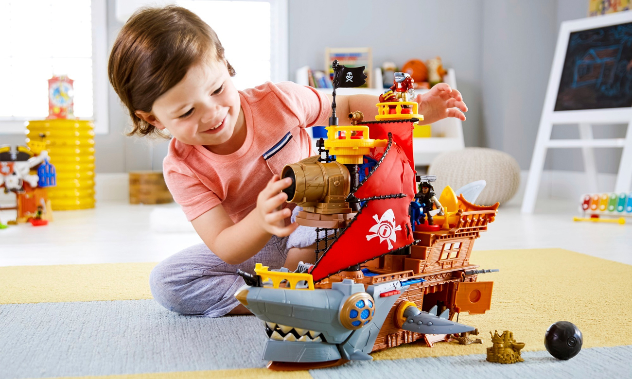 Mattel Imaginext Statek piracki Rekin