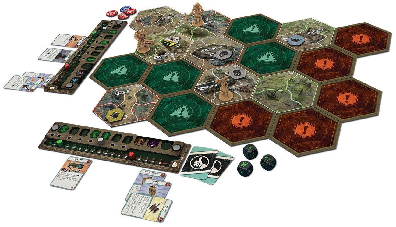 fallout gra planszowa zawartość pudełka
