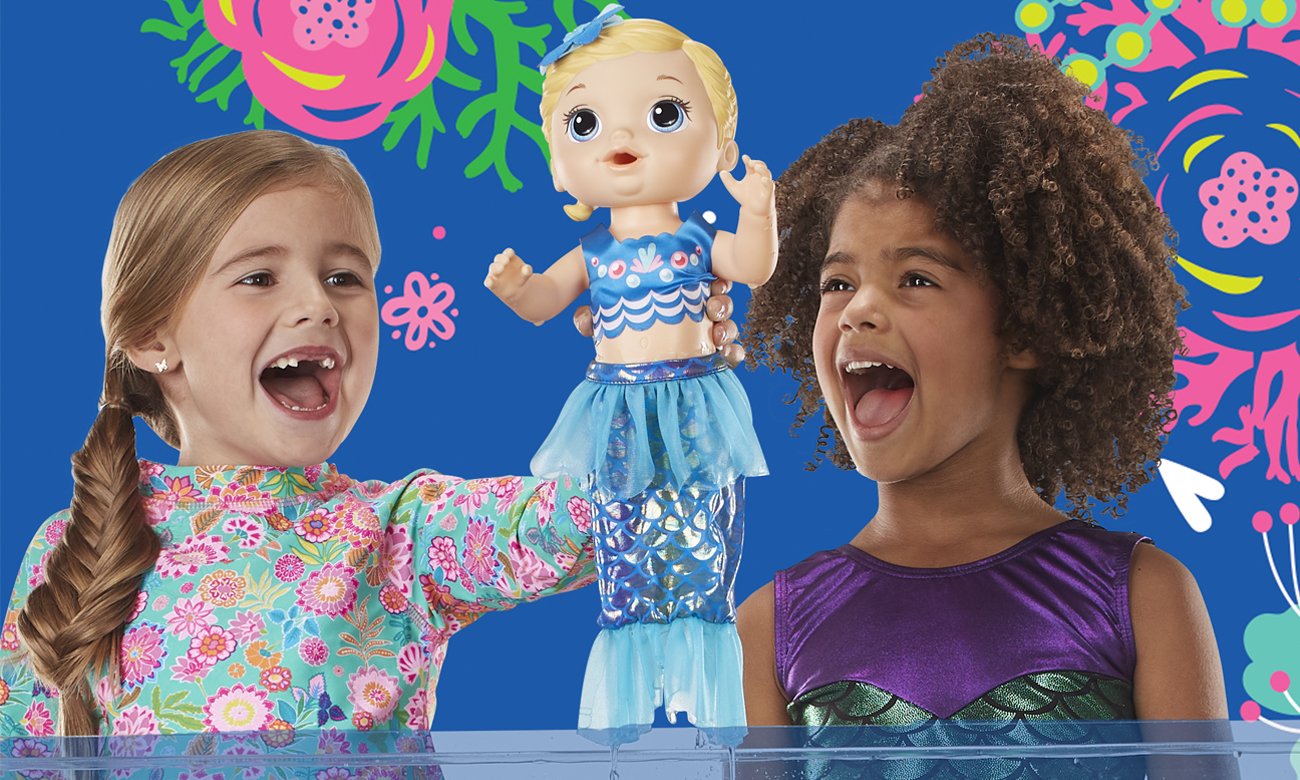 Hasbro Baby Alive Migocząca Syrenka blondynka